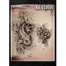 Tattoo Pro Lotus & Koi
