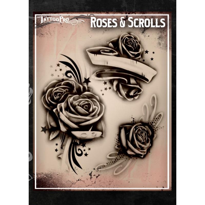 tattoo pro roses scrolls facepaint online. Black Bedroom Furniture Sets. Home Design Ideas