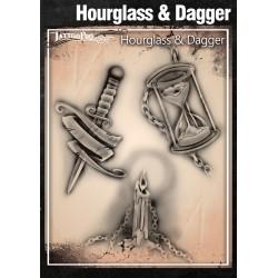 Tattoo Pro Hourglass & Dagger