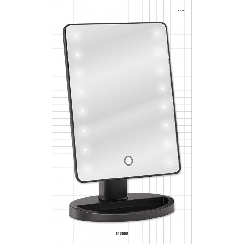Miroir de table avec lumi re led facepaint online for Lumiere led miroir