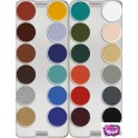 Kryolan Supracolor Greasepaint Palette 24 colours - K