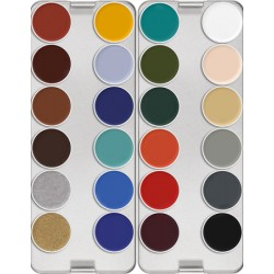 Kryolan Supracolor Greasepaint Palette 24 colours - K