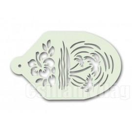Facepaint Stencil Palmtree - Flower