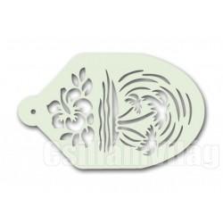 Facepaint Stencil Palmboom - Bloem