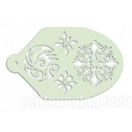Facepaint Stencil Rosette 2